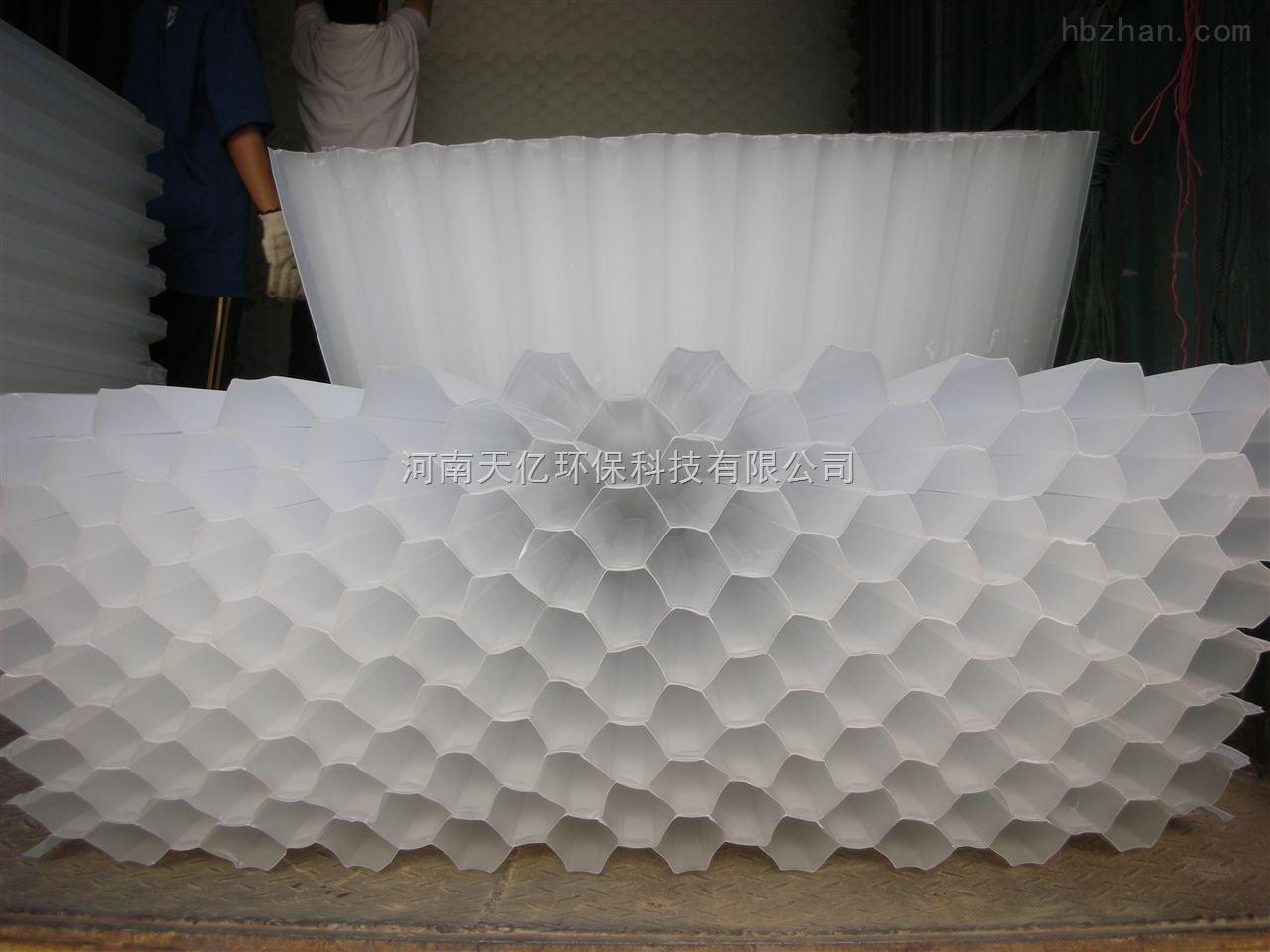 新疆自来水厂六角蜂窝斜管填料安装维护