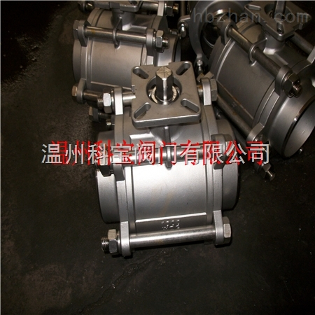 焊接球阀带高平台温州厂家 3PC Q61F 1寸2寸3寸