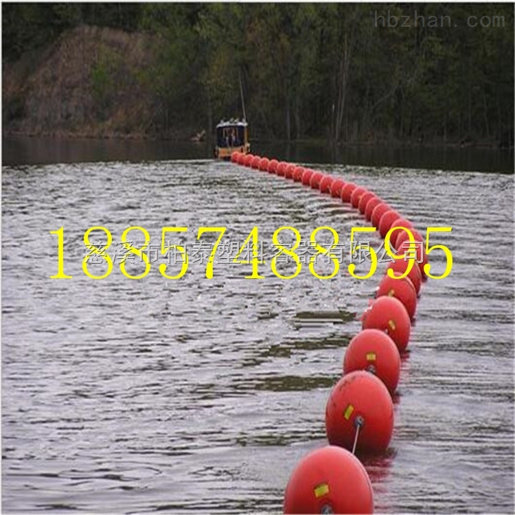澜沧江电站上游大浮力穿绳式拦污浮筒漂排