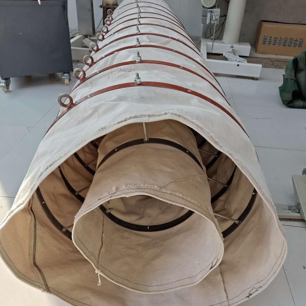 散裝機伸縮溜筒鋼制伸縮內袋