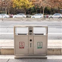 河南新款果皮箱厂家,郑州不锈钢分类垃圾桶