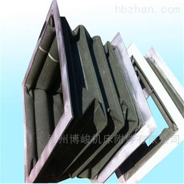 钢丝支撑方形帆布卸料伸缩软连接
