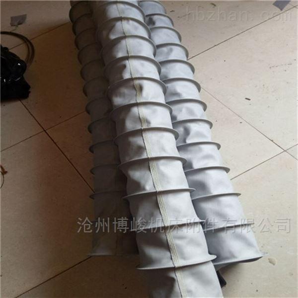 水泥卸料耐磨防晒帆布伸缩布袋定做