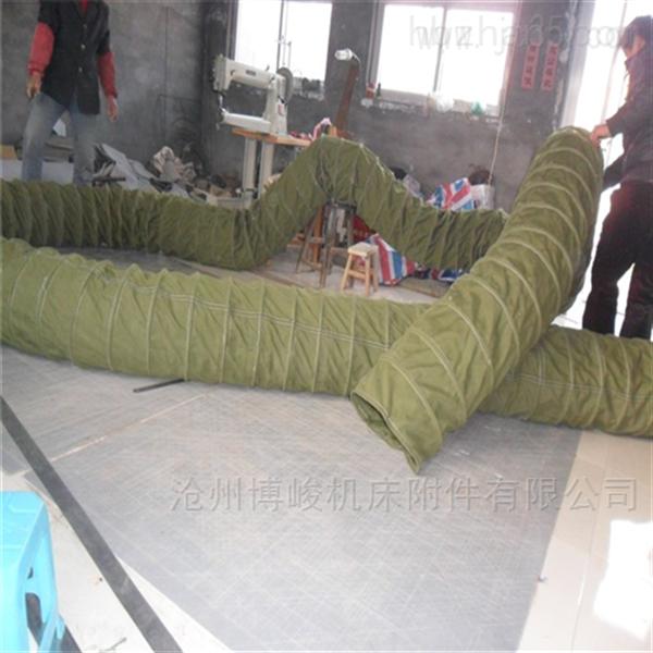水泥卸料耐高压帆布伸缩布袋生产