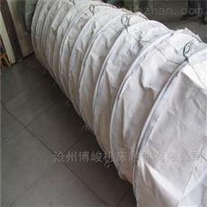 干燥机使用耐酸碱帆布伸缩布袋定做
