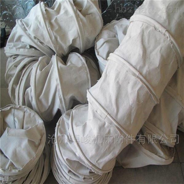 耐高温防火帆布除尘伸缩布袋规格定做