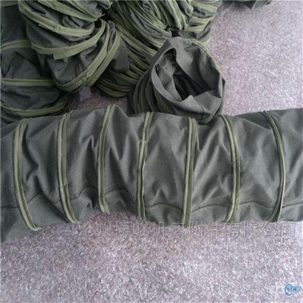 挂胶帆布卸料伸缩布袋规格定做
