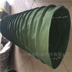 钢丝圈式帆布卸料伸缩布袋规格