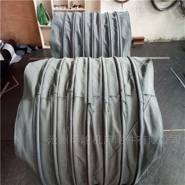 帆布水泥除尘耐磨损伸缩布袋定做