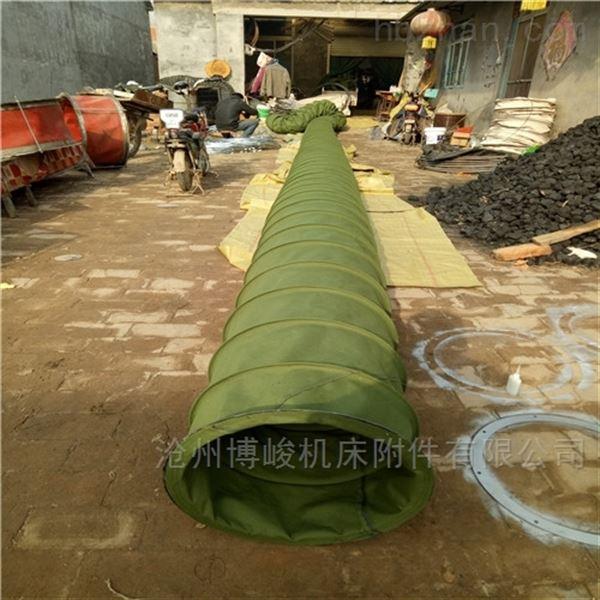 水泥管道输送帆布耐磨伸缩布袋规格