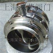 卫生级三片式对焊蝶阀