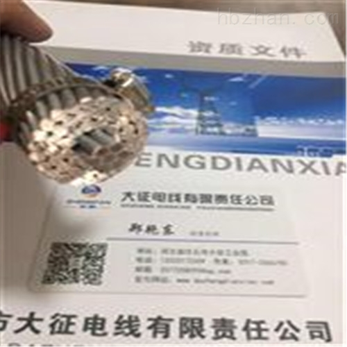耐热钢芯铝合金导线JNRLH/G1A300/40价格