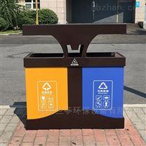 河南园林仿古钢板2分类垃圾桶制造批发厂家