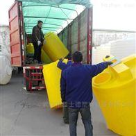 武汉1500L防腐加药箱酸碱液体搅拌罐带电机