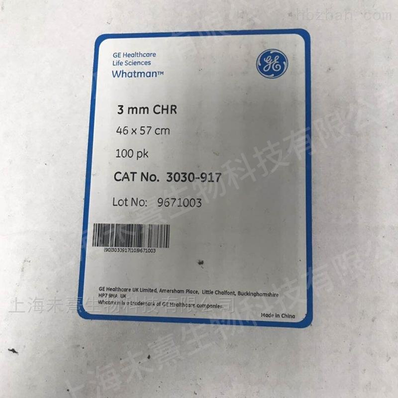 英国沃特曼Grade3MM Chr层析纸 100/pk