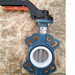 RPTFE系列高性能防腐蝕對夾手柄蝶閥