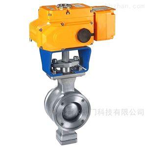 VQ977电动对夹V型球阀