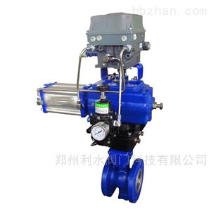 VQ677气动V型调节球阀