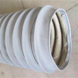 螺旋式灰色硅胶布耐高温通风管推荐