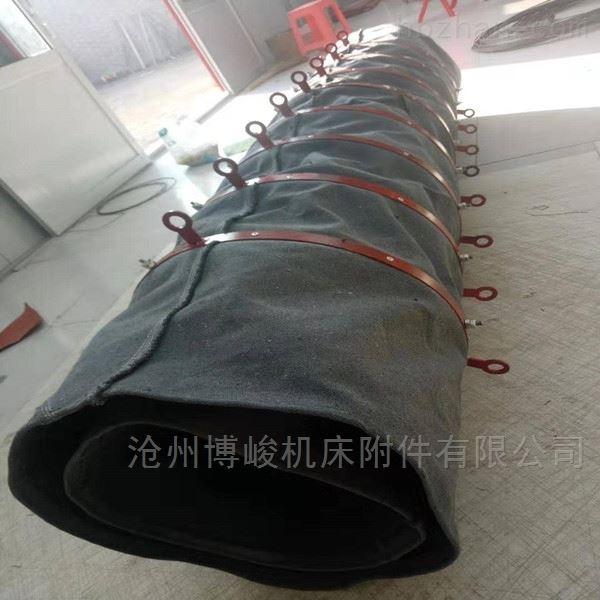干灰卸料输送帆布伸缩布袋厂家生产