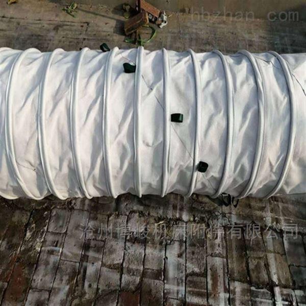 防尘颗粒卸料帆布伸缩布袋生产厂家
