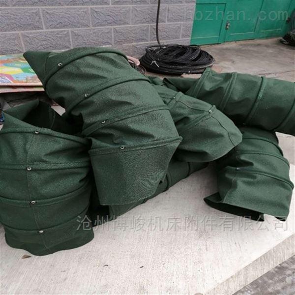 干灰颗粒输送帆布伸缩布袋厂家直销