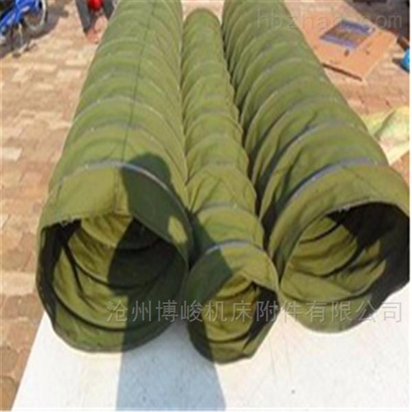 挂胶帆布卸料通风防水耐磨伸缩布袋定制