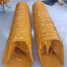 耐酸碱帆布防尘伸缩布袋厂家生产