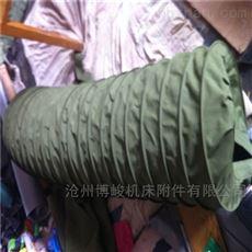 山东输送煤灰颗粒防尘帆布伸缩布袋厂家