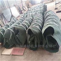 散装耐磨颗粒输送帆布伸缩布袋规格