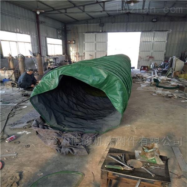 扁钢调换帆布除尘伸缩布袋直销厂家