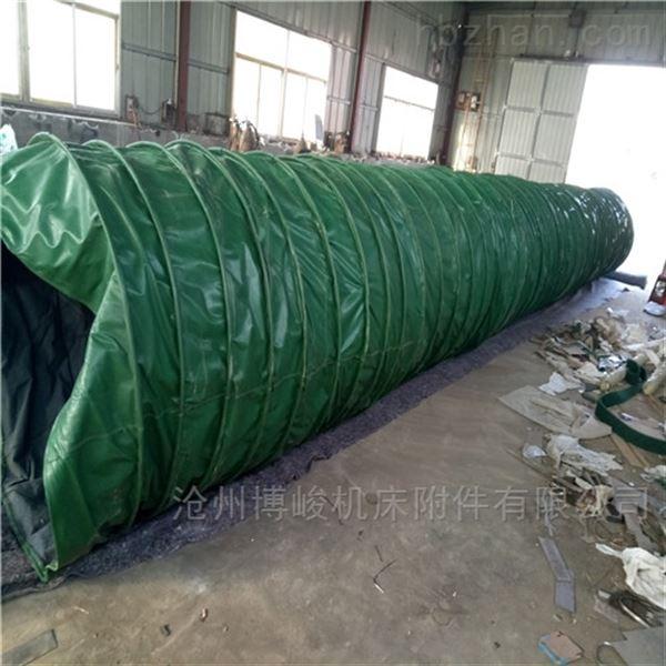 风机通风三防布法兰式伸缩布袋厂家生产