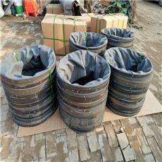 黑色加厚橡胶布卸料伸缩布袋厂家生产
