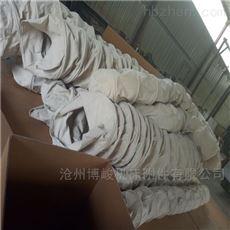 水泥卸料连体收尘帆布伸缩布袋厂家