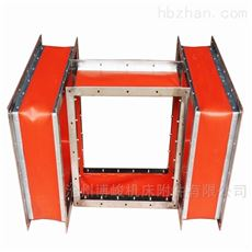 红色硅胶布防火耐高温抗压通风软连接厂家