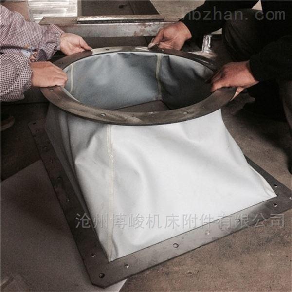 耐酸碱帆布通风耐磨软连接规格
