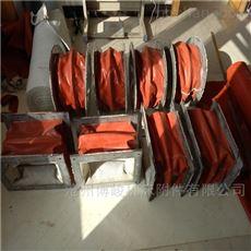重庆矩形法兰帆布通风软连接厂家生产