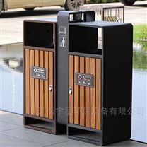 山东钢木垃圾桶生产厂家|济南分类果皮箱