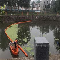 江水面水草拦截浮筒