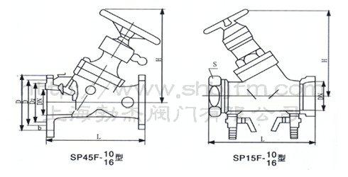 闸阀 sp45f数字锁定平衡阀  ● 结构图: 零件名称 阀体,阀盖 阀杆 阀图片