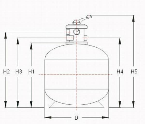 ss-游泳池设备 过滤循环沙缸 石英砂过滤器
