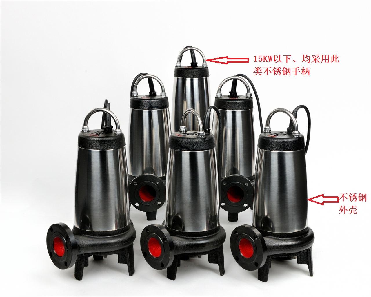 不鏽鋼外殼潛水排汙泵圖片