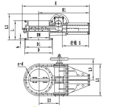 lc742w液动/lc942w电动齿条式闸板冷风阀图片