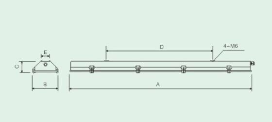 灯具光源为t5荧光灯管,配电子式荧光灯镇流器及接线装置.
