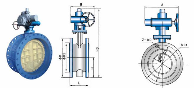 气动,液动 d943x法兰电动蝶阀主要零部件 零件名称 材料 阀体 wcb,qt