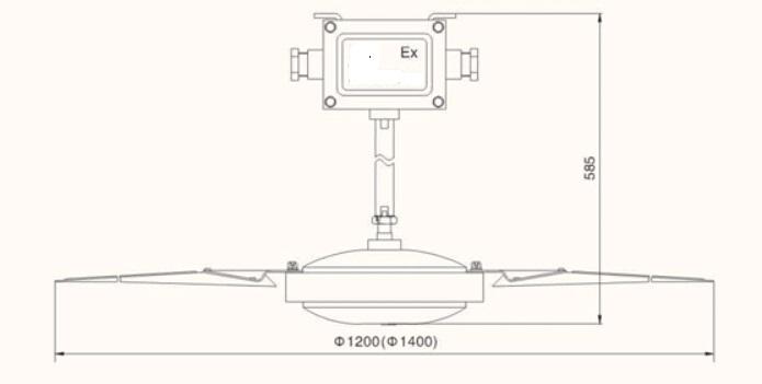 4米长的吗  产品特点        防爆吊扇由防爆电机,扇叶,接线盒,防爆
