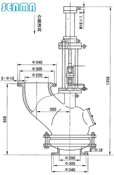 二,炉顶放散阀xhjfs结构简图 0.25 0.275 0.375 6.图片