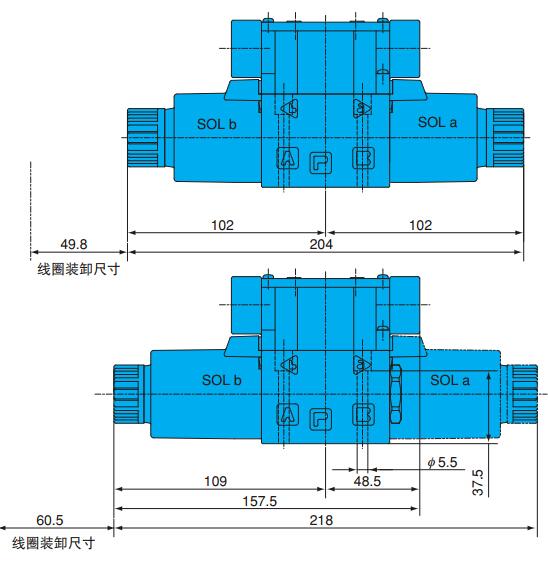 日本nachi换向阀接线方式