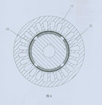 永磁电机分布式绕组定转子