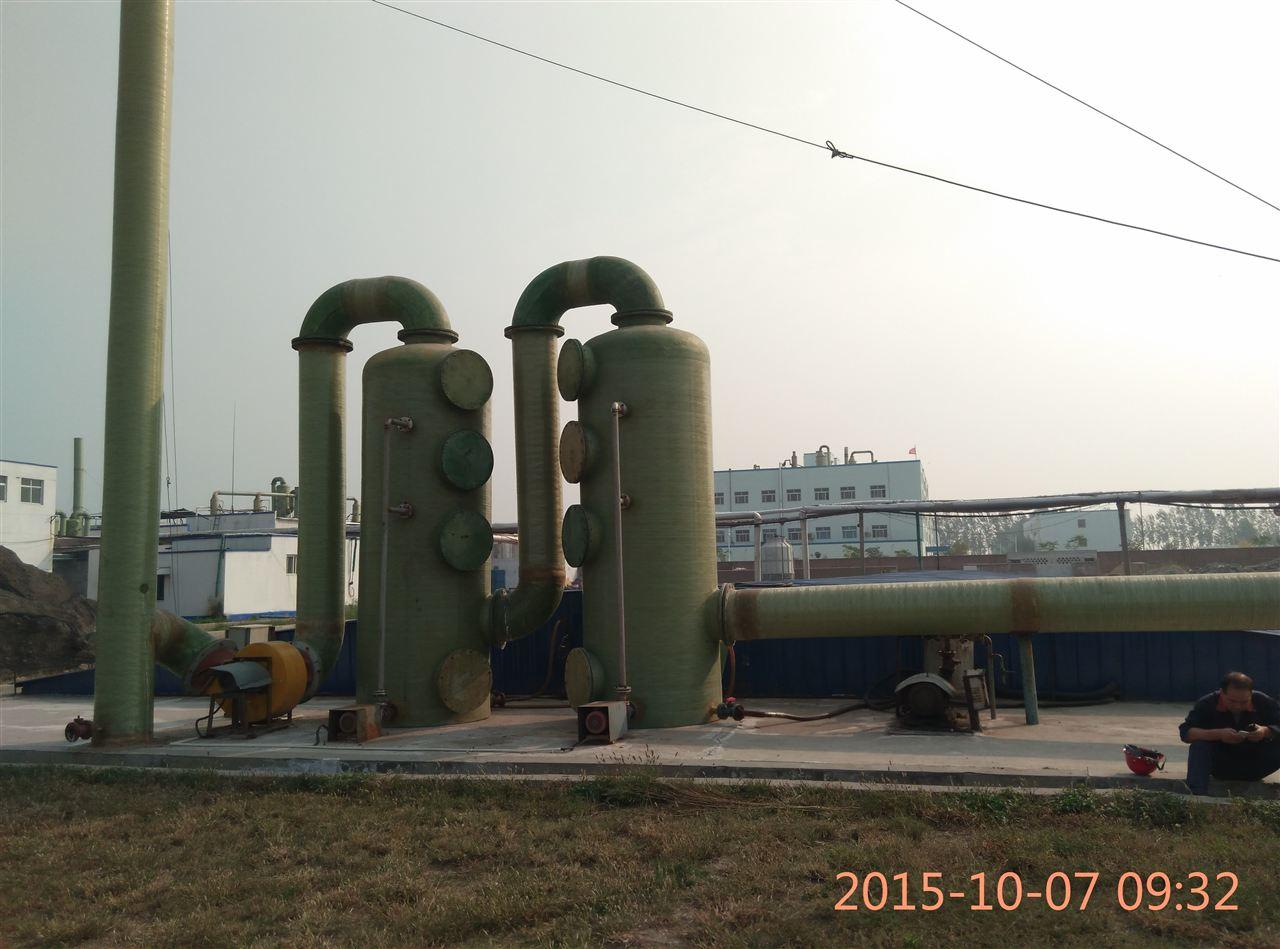 除臭剂除臭塔 喷淋法除臭 河北信凯环保玻璃钢制品厂